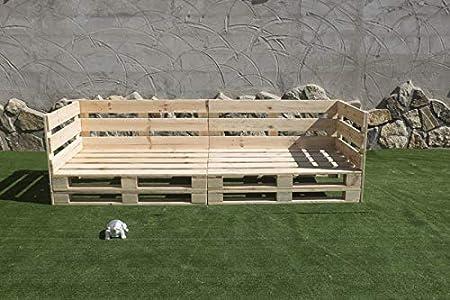 Sofa PALETS Europeo 2,4m Nuevo A ESTRENAR Interior/Exterior AL Natural: Amazon.es: Hogar