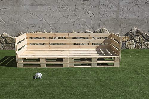 🏡 Sofa PALETS Europeo 2,4m Nuevo A ESTRENAR Interior/Exterior AL Natural🏡
