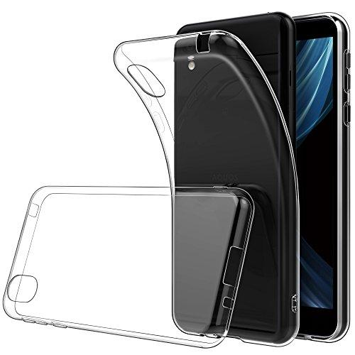 SHARP AQUOS sense plus/Android One X4 ケース Simpeak クリア TPUケース SH-M07対応 超薄型 超軽量 指紋防止 透明 保護カバー