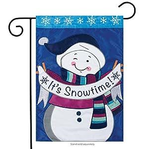 Carson Applique Garden Flag - It's Snowtime
