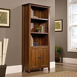 Sauder 416967 Carson Forge Library with Doors, Washington Cherry