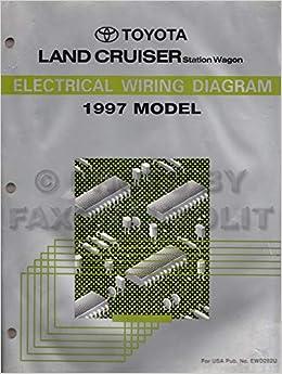 1996 Toyota Land Cruiser Wiring Diagram Manual Original Toyota Amazon Com Books