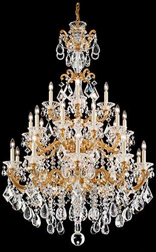 Schonbek 5012-49 Swarovski Lighting La Scala Chandelier, Black Pearl