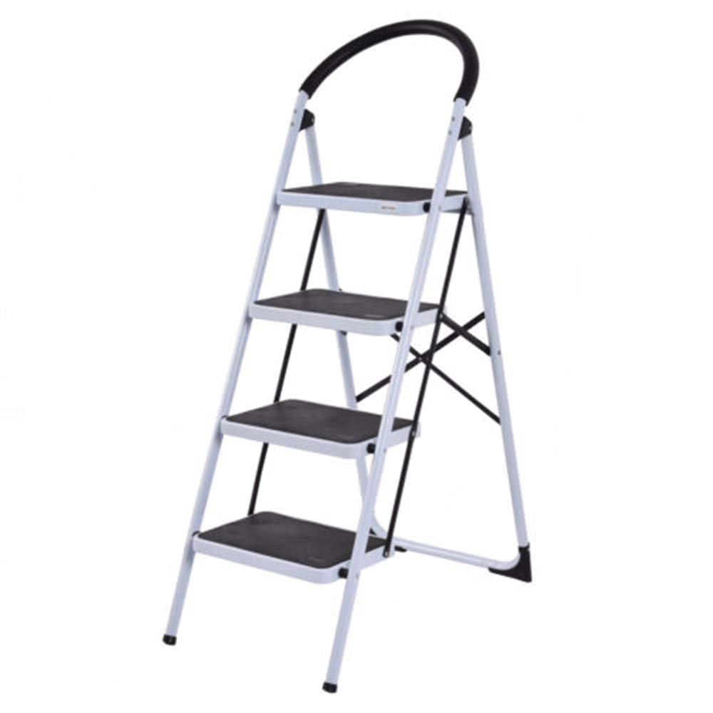 MY HOPE Ladder Fordable Heavy Duty Supported load 330 Lbs 4 Step Industrial Lightweight.