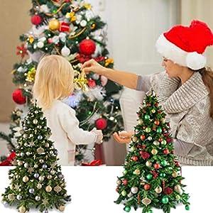 Christmas Balls ,2.3 Inches 25 Large Christmas Balls Christmas Decoration Balls (Champagne, 2.3 Inches. 6 Cm) (Color: Champagne, Tamaño: 2.3-6 cm)
