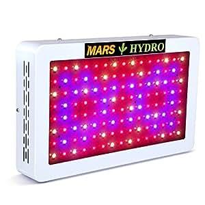 MARS HYDRO Led Grow Light 300W 600W 1000W Full Spectrum for Indoor Plants Veg and Flower Hydroponics Greenhouse Gardening Bloom (MARS 600W)