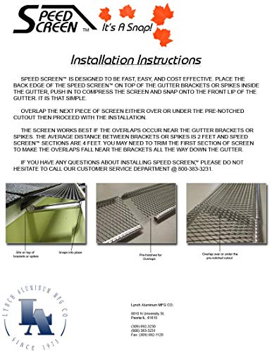 5'' Small Hole Speed Screen Gutter Guard/Gutter Protection/Leaf Protection (200ft/box) by Lynch Aluminum (Image #7)