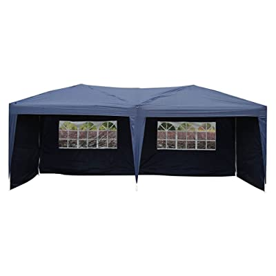 Festnight 10' x 20' Garden Outdoor Gazebo Canopy with 4 Sides Removable Walls and 2 Windows Heavy Duty Waterproof Patio Party Wedding Tent BBQ Shelter Pavilion Cater Events Blue : Garden & Outdoor