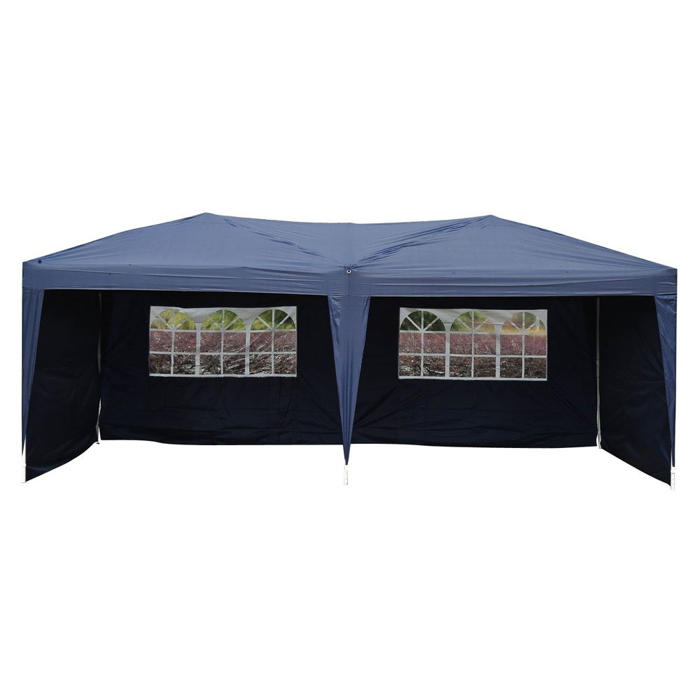 Z ZTDM 10' X 20' Pop Up Canopy Tent for Outdoor Wedding Party Event BBQ Commercial, with 4 Removable Sidewalls,Sunshade Snow Shelter Waterproof Folding Heavy Duty