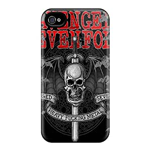 Iphone 4/4s ShS13193QulV Custom Fashion Avenged Sevenfold Pattern Excellent Hard Cell-phone Case -KerryParsons
