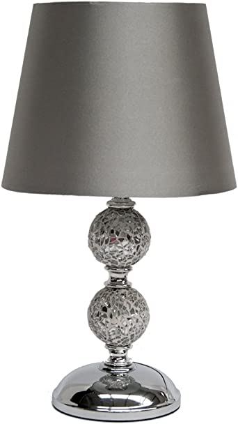 ZOE Crackle Mosaic Table Lamp Black or