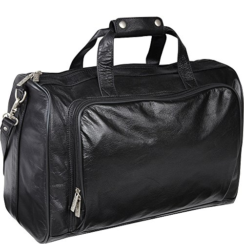 amerileather-18-inch-leather-carry-on-weekend-duffel-black