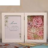 European live roses picture frame Eternal flower gift box Birthday gift-B