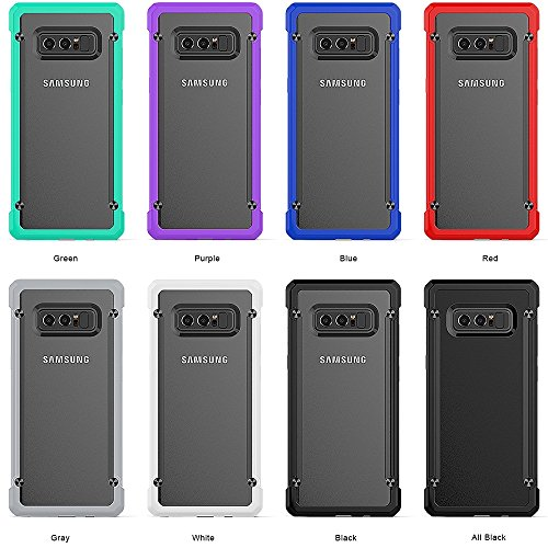 XIAOGUA Cases & Covers, Para Samsung Galaxy Note 8 PC + TPU Beetle Protective Contraportada ( Color : Purple ) Green