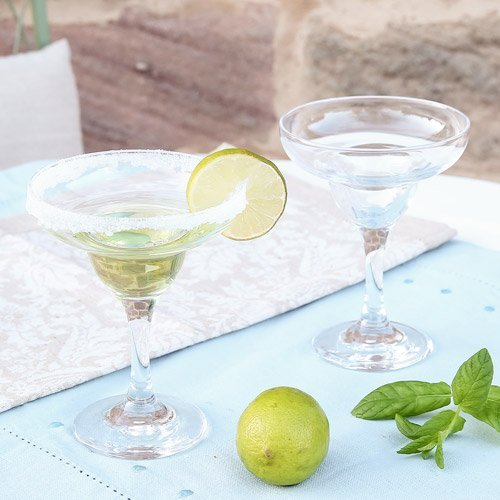 Dibor - French Style Accessories for the Home Clear Glass Margarita Glass - Perfect for Summer Cocktails