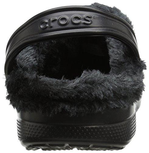 Crocs Unisex Baya felpa forrada Zueco Black/black
