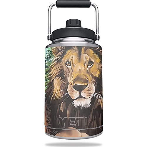 MightySkins Skin for Yeti One Gallon Jug - Split Lion | Protective, Durable, and Unique Vinyl Decal wrap Cover | Easy to Apply, Remove, and Change Styles | Made in The USA