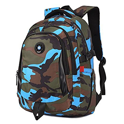 Camouflage Backpack, Large Capacity Water-Resistant Student Children School Bag by MATMO (Image #2)
