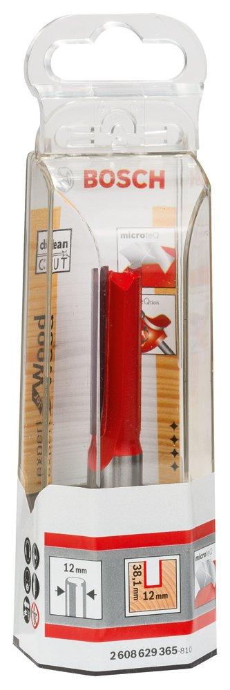 Bosch Professional Nutfr/äser f/ür Holz, Schaft 12mm, /Ø10mm, Arbeitsl/änge 31,8mm, Gesamtl/änge 76mm