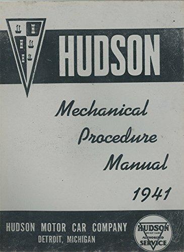 bishko automotive literature 1941 Hudson Shop Service Repair Manual Engine Drivetrain Electrical Factory OEM