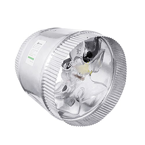 A1KINGDOM 8 Inch 500 CFM Inline Duct Booster Fan, Low Noise Extra Large Ventilation and Long 6.2' Grounded Power Cord
