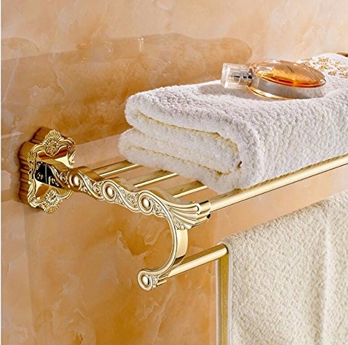 SFSYDDY-The Copper Material Really Fast Electroplating Technology Carved Bathroom Double Towel Rack