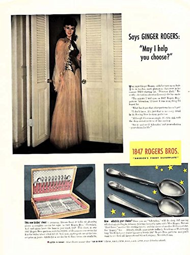 47 Rogers Bros Silverplate ad 1940 L ()