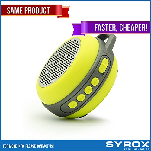 Bluetooth Speaker - Yellow Portable Keychain Chargable SD Card AUX FM Radio Microphone Apple Iphone 4/5/6/7/8/X Samsung Galaxy Sony Xperia Xiaomi Asus LG G4 G5 G6 Nokia HTC BlackBerry Motorola Huawei by Syrox
