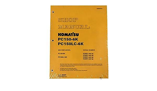 amazon com komatsu pc150 6k excavator workshop repair service rh amazon com Komatsu Fork Lift Parts Catalog Komatsu PC 35 Parts Manual