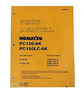 amazon com komatsu pc150 6k excavator workshop repair service rh amazon com Komatsu Excavator Parts Manual Komatsu Fork Lift Parts Catalog
