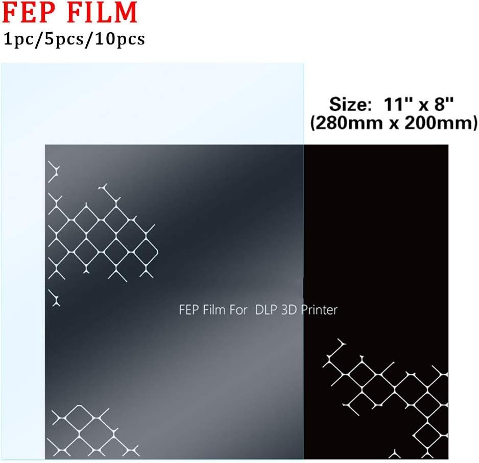 280x200mm FEP Film HD UV 3D Printer 0.1mm Thickness LCD for SLA DLP FEP Film Accessories