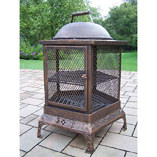Oakland Living Corporation Lantern Brown Wrought Iron for sale  Delivered anywhere in USA