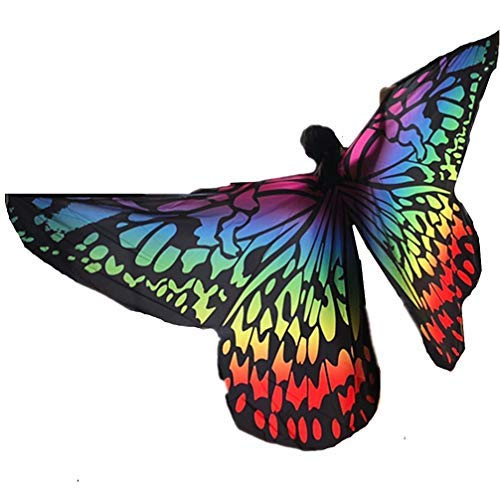 2019 Women's Angel Butterfly Belly Dance Isis Wings Halloween Costumes Gift(Gradient Color) -