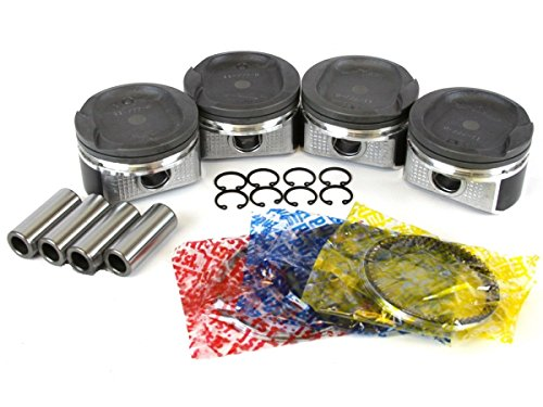 Toyota 1.8L (1ZZFE) DOHC Pistons+Rings Set 2000-08 (std bore) (Pin Set Piston)
