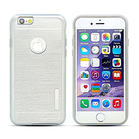 iPhone 6/6S Case, [Dual Layer: Thin Armor TPU Interior Silicone + Heavy Duty Solid PC Back] Shock Absorbing Scratch Resistant Brushed (Iphone 4 Otterbox Armor Case)