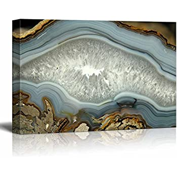 wall26 - Abstract Agate Slice Pattern Gallery - Canvas Art Wall Decor - 24