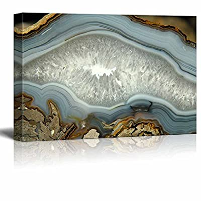 Abstract Agate Slice Pattern Gallery - Canvas Art Wall Art - 12