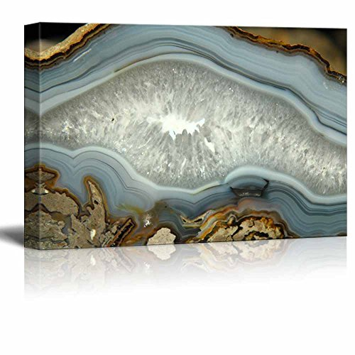 - wall26 - Abstract Agate Slice Pattern Gallery - Canvas Art Wall Decor - 24