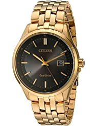 Citizen Mens Eco-Drive Dress Quartz and Stainless-Steel Watch, Color:Gold-Toned (Model: BM7252-51E)
