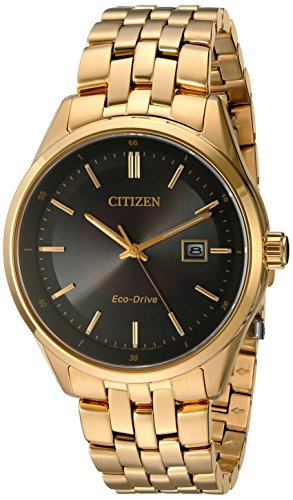 Citizen Men's 'Eco-Drive Dress' Quartz and Stainless-Steel Automatic Watch, Color:Gold-Toned (Model: BM7252-51E)