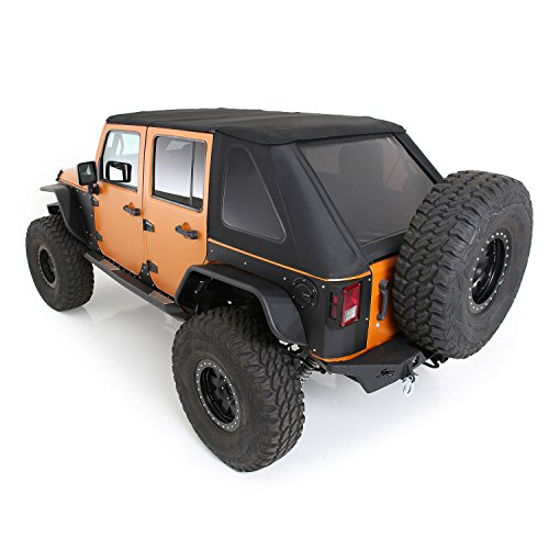 Smittybilt 9087235 Bowless Soft Top Combo - W/Tinted Windows Jeep, 10-16 Wrangler (JK) 4 Door