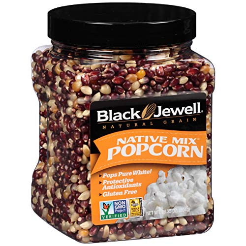 Black Jewell Premium Popcorn Kernels Native Mix 28.35 Ounces (Pack of 6) (Black Popcorn Jewel)