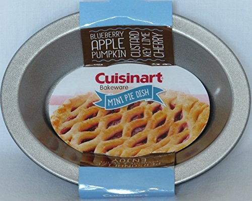 Cuisinart 4 Piece Oval Pie Dish Set, Mini, Steel Gray (Cuisinart Pie Pan)