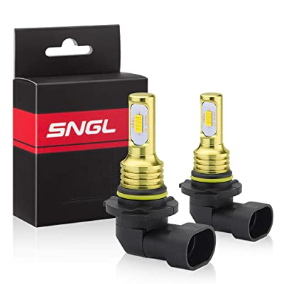 SNGL H10 LED Fog Light Bulb yellow 3000k Extremely Bright High Power H10 PY20D 9140 9040 9045 9145 LED Bulbs for DRL or Fog Light Lamp Replacement: Automotive