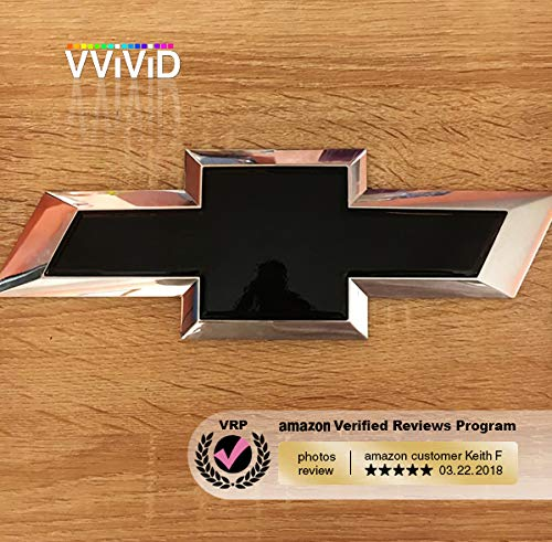 VViViD XPO Gloss Black Chevy Bowtie Logo Wrap Kit Extra-Wide Roll 17.75 x 60