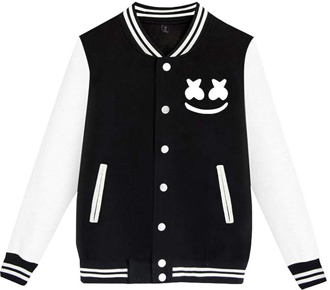 Amazon.com: EmilyLe Marshmello Hoodie Men Baseball Jacket ...