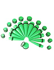 Gauges Kit 24 Pieces Tapers and Plugs 00G-20mm Big Gauges Ear Stretching Kit