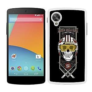 Funda carcasa para LG Nexus 5 diseño Luck fondo negro SW borde blanco