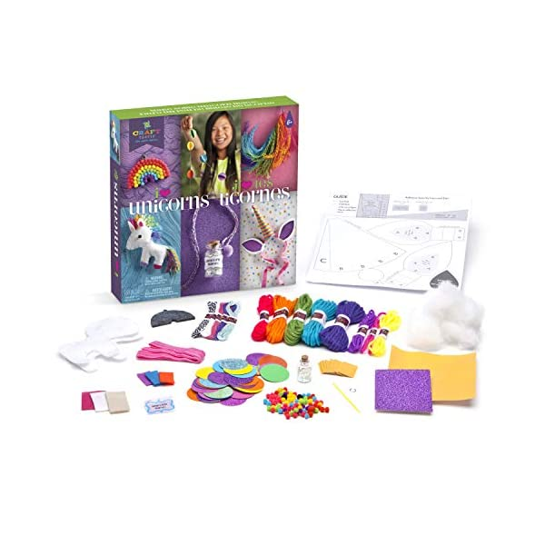 Craft-Tastic – I Love Unicorns Kit – Craft Kit Includes 6 Unicorn-Themed Projects 7
