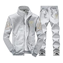 Rocky Sun Mens Tracksuit Fleece Slim Joggers Pants Bottoms & Zipper Jacket Top